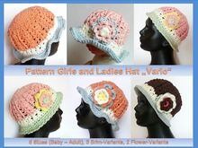 "Girls and Ladies Hat ""Vario"" Pattern"
