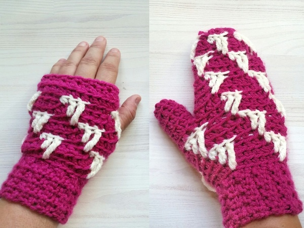 "Mittens and Wristwarmers ""Icicle"""