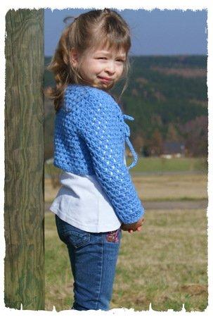 Bolero Jacke Für Mädchen Selber Häkeln