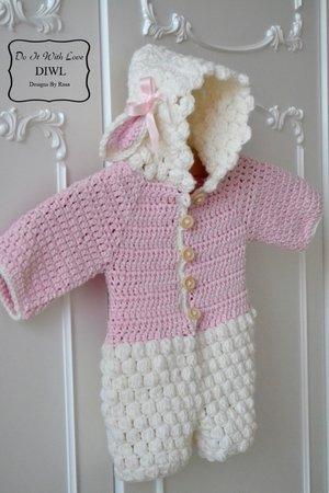 Baby Jumpsuit Lamm Style Selber Häkeln