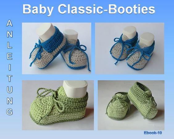 Baby Classic Booties Häkelanleitung