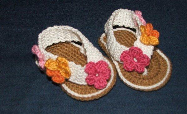 baby sandalen h keln diy baby sandalen. Black Bedroom Furniture Sets. Home Design Ideas