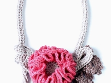 Crochet Necklace Pattern, Crochet Jewelry Pattern