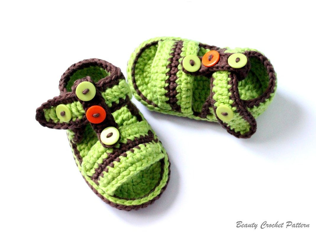 Crochet Pattern Baby Boy Sandals Baby Summer Crochet Shoes Pattern ...