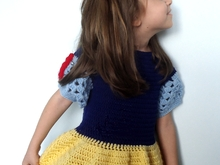 Crochet Pattern Princess Snow White Dress