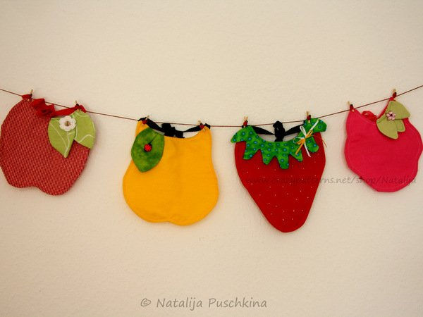 Lätzchen Frucht Motiv Häkeln Baby Lätzchen