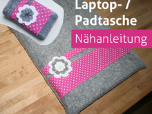 Nähanleitung Notebook Laptop Tasche Sleeve Tablet Notebooktasche Laptoptasche