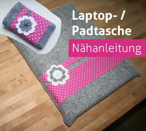 Nähanleitung Notebook Laptop Tasche Sleeve Tablet Notebooktasche ...