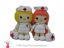 Jazzy the Nurse, Amigurumi crochet pattern