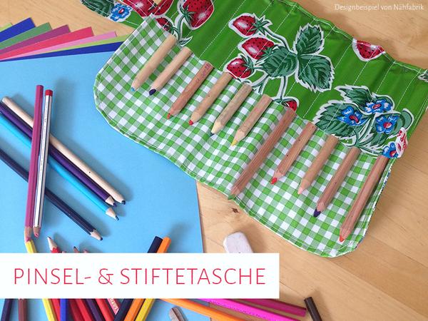 Schnittmuster & Nähanleitung Pinsel- und Stiftetasche