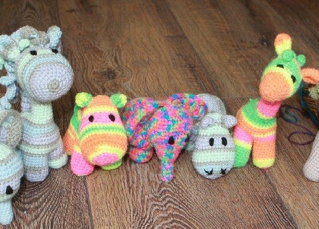 Baby Tiere Häkeln Giraffehippoponyelefant