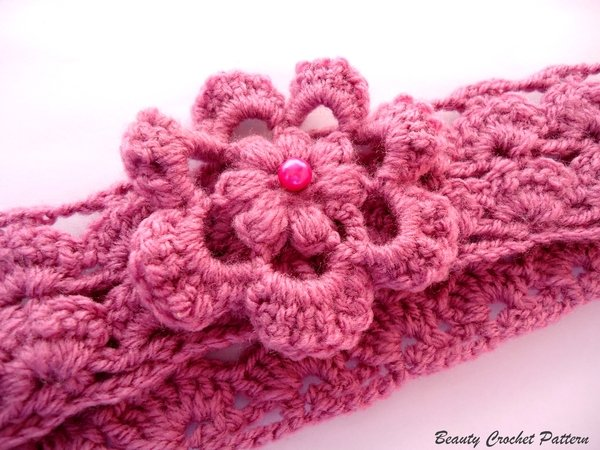 Headband with flower sizes: Baby- Adult
