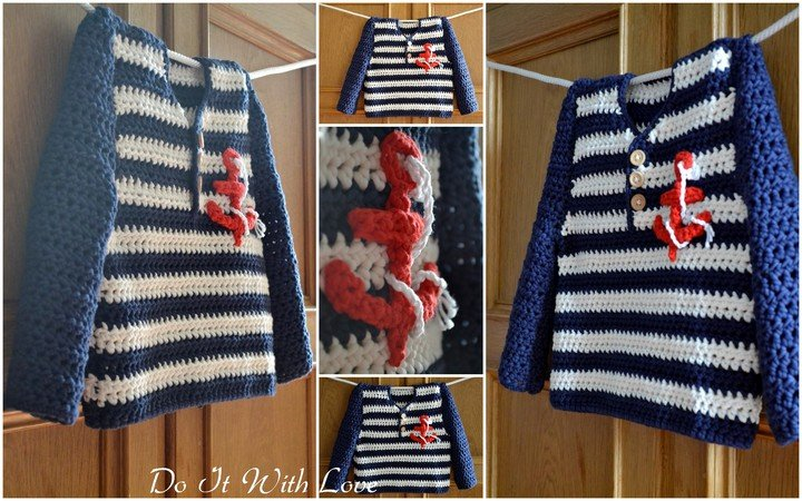 E-Book / Häkelanleitung Sailor Cardigan