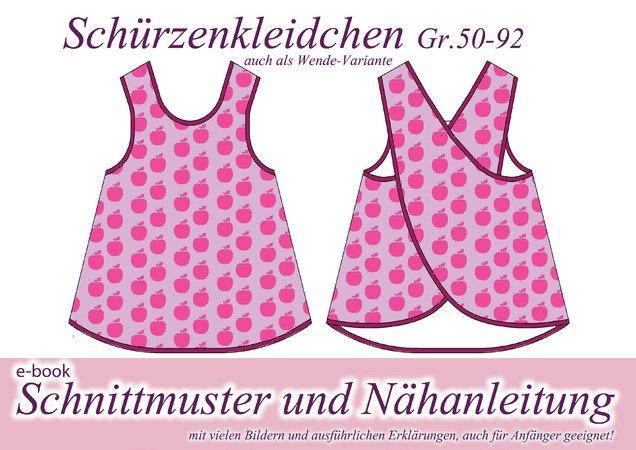 Kinderkleid nähen / Schürzenkleid Gr.50-92