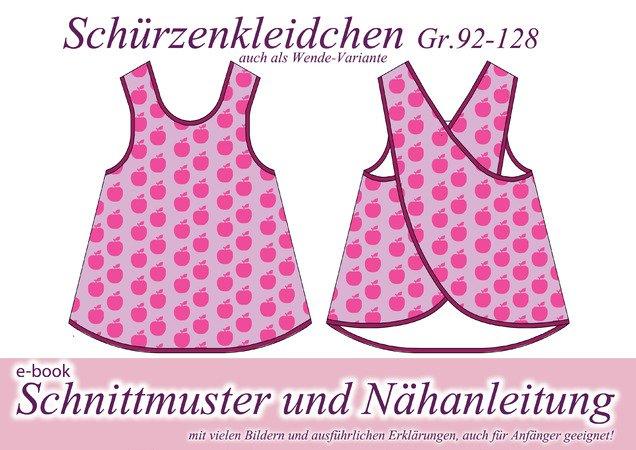 Schürzenkleid // Kinder-Kleid nähen Gr.92-128