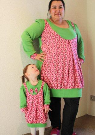 Frauenkleid nähen / Kleid für Mamis nähen