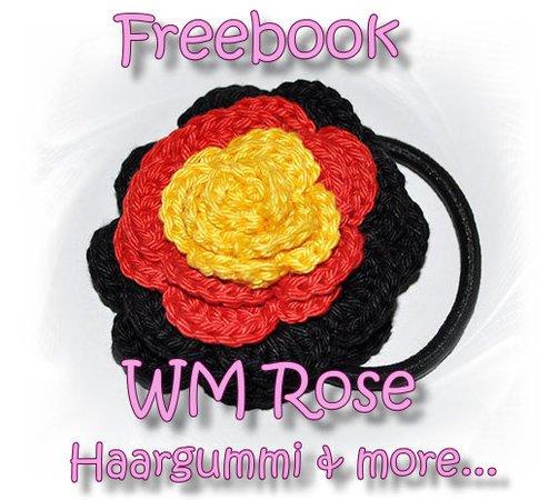 gratis Rose häkeln // gratis Haargummi häkeln