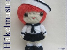 Sailor Girl, Amigurumi crochet pattern