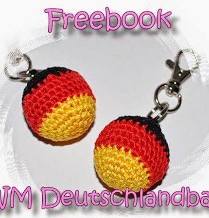 Freebook Schlüsselanhänger Ball Häkeln