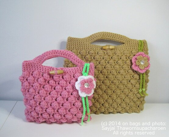 Bobble Bag Crochet Pattern in 2 Sizes