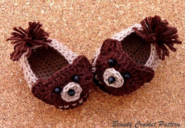 Teddybär häkeln Babyschuhe