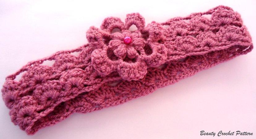 E-Book Häkeln Stirnband mit Blume