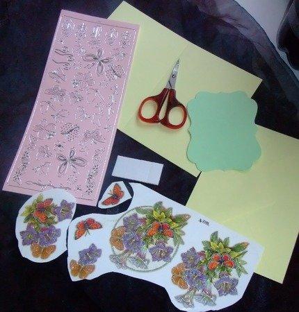 Häufig Karten basteln - Glockenblume und Schmetterling RY56