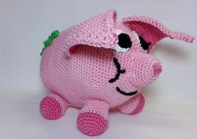 Schwein Häkeln Bringt Glück Rosig Toll