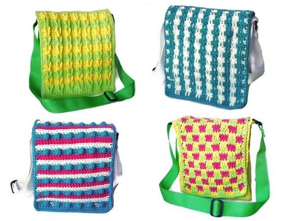Schulter-Tasche mit Wechselklappen häkeln