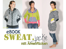 E-Book #65 SWEAT.jacke mit Ärmelflicken XS-3XL