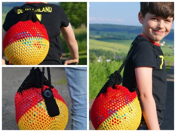 Ballnetz häkeln - Rucksack für Ball häkeln