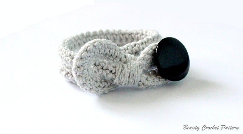 Armband mit Knopf Häkelanleitung