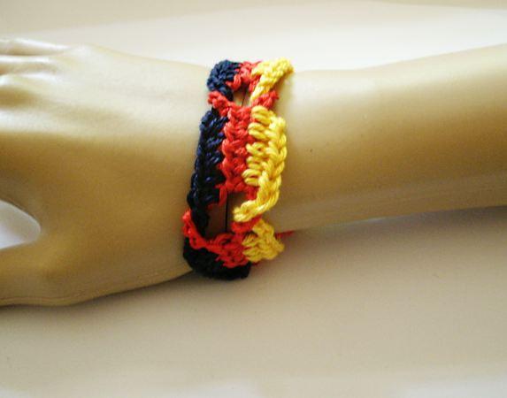 kostenlos Fußball-Fan Armband häkeln