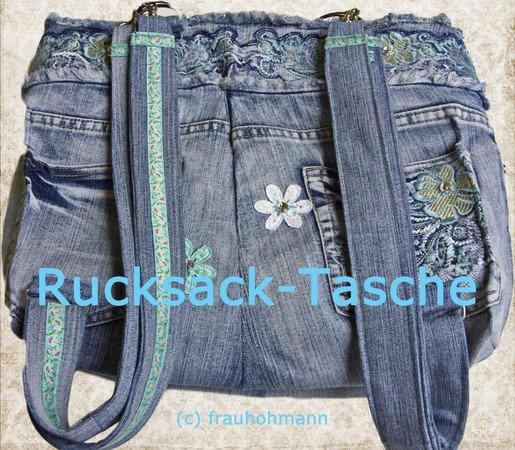 Luxus Rucksack Handtasche Aus Alter Jeans
