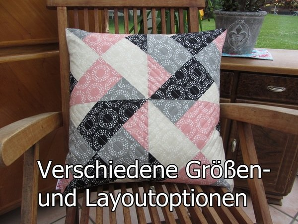 n hanleitung whirly patchwork quilt. Black Bedroom Furniture Sets. Home Design Ideas