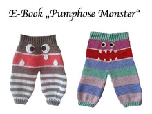 E-Book Pumphose Monster Gr. 56, 62,68, 2 Passformen