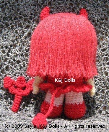 Kleine Liebes Teufel Amigurumi häkelanleitung | 450x369