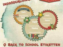 Back to School Labels, Sticker, Etiketten