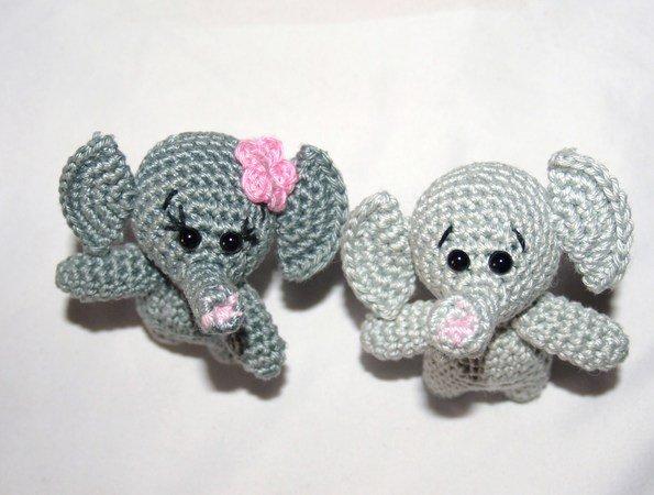 Elefant Häkeln Schöner Schlüsselanhänger