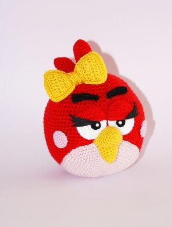 Angry Bird Mädchen Häkelanleitung