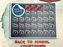 Back to School Countdown Planer