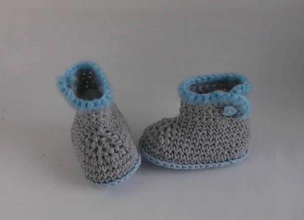 Babyschuhe häkeln ツ DIY Baby-Booties 2 Gr. ツ
