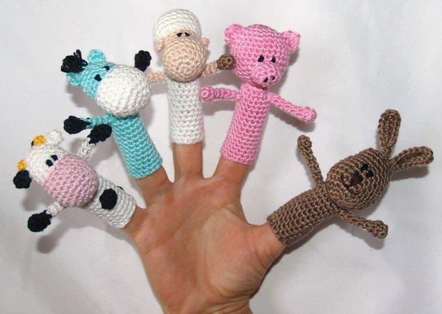 Fingerpuppen Selber Hakeln Bauernhof Motive