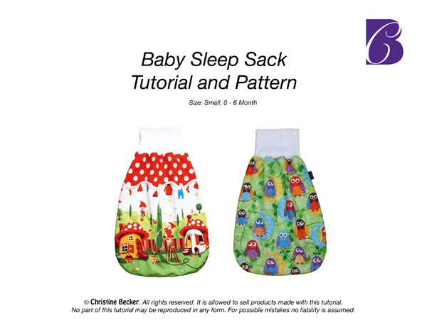 E-Book Baby Sleep Sack, Tutorial and Pattern