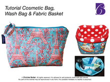 PDF E-Book,Cosmetic Bag, Wash Bag and Fabric Basket
