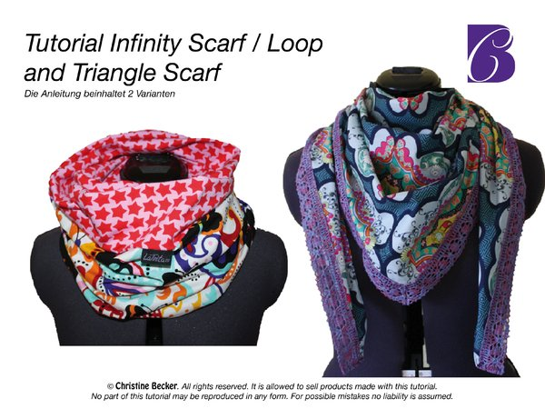 E-Book Infinity Scarf & Triangle Scarf, reversible