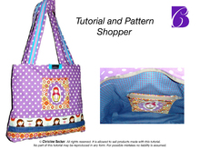 E-Book Shopper with Zipper,Tutorial and Pattern,PDF
