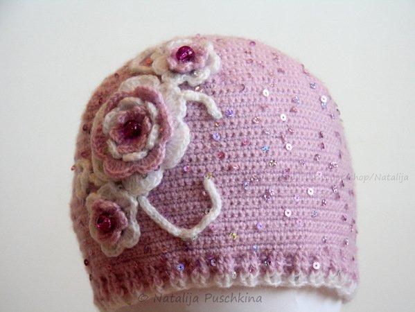 Mütze für Damen und Mädchen selber häkeln ✓