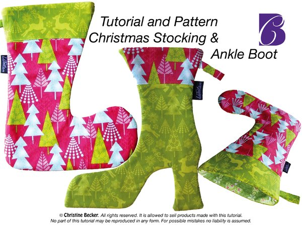 E-Book Tutorial and Pattern Christmas Stocking & Ankle Boot,PDF