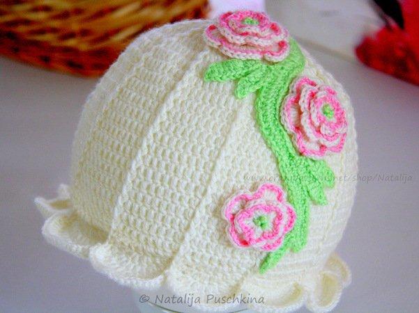 Baby Mütze Blume Häkeln Diy Mütze Häkeln